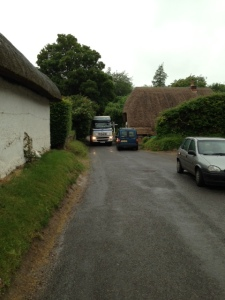 Lorry heading towards Abbotts Ann (and Alpine Group?) at 9am on Friday 28 June 2013