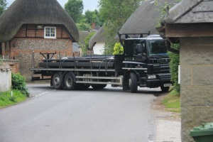 Lorry damaging the village green at 12.37pm 3/7/13