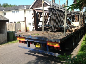 Lorry seen to 15.45 on 5 July 2013