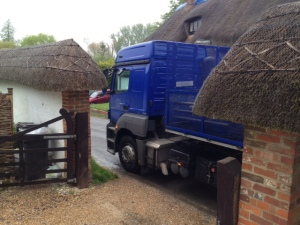 Lorry outside The Stables 22 July
