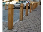 Epping square bollard with groove (800mm high)