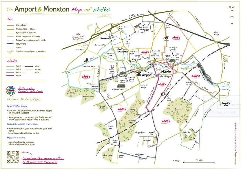 Amport & Monxton Footpath map