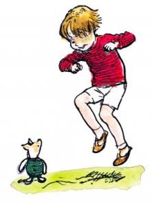 Mottisfont Christopher Robin and Piglet credit The E.H. Shepard Trust reproduced with permission of Curtis Brown Ltd