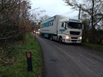 Romanian lorry apparently heading for the Business Park