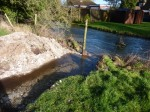 Channel dug from paddock to river to allow floodwater to escape