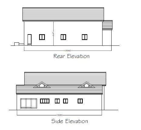 MAVH side rear elevations